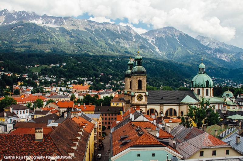 View of Innsbruck, Clock Tower, Austria