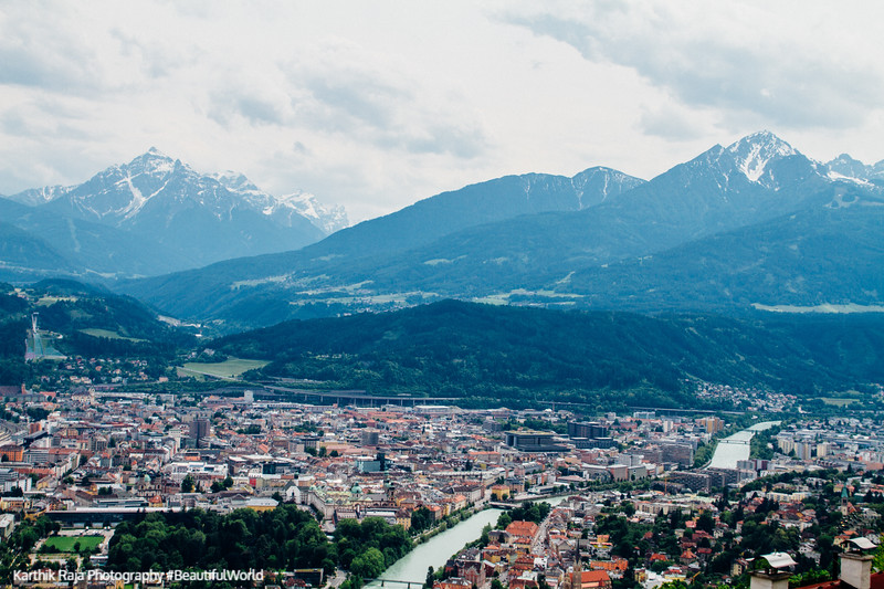 River Inn, View of Innsbruck, Austria