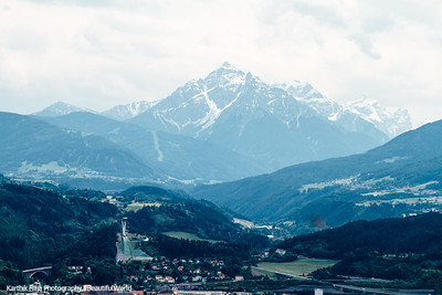 View of Bergisel and Serles, Austria