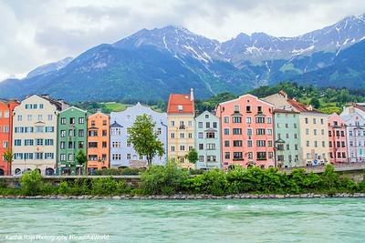 Houses, River Inn, Innsbruck, Austria