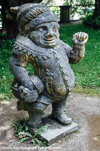 Mirabellgarten, Dwarf Gnome Park, Zwergelgarten, Der Zwerg mit dem Holzbein, Salzburg, Austria
