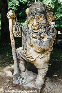 Mirabellgarten, Dwarf Gnome Park, Zwergelgarten, Der Zwerg mit dem Spaten, Salzburg, Austria