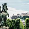 Mirabellgarten, Pegasus and Castle, Salzburg, Austria