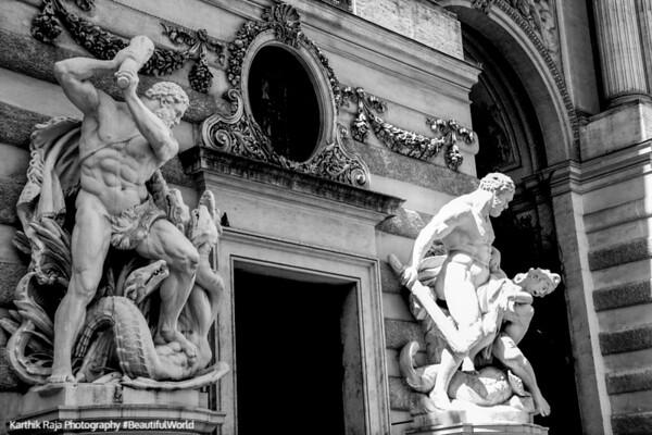 Tasks of Hercules, Hofburg Imperial Palace, Vienna, Austria