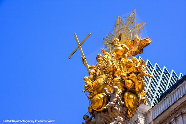 Statue Pestsaule, Vienna, Austria