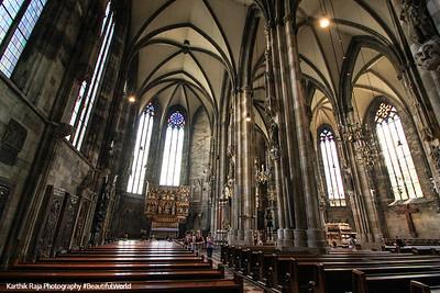 Interior, St. Stephen's Cathedral, Vienna, Austria