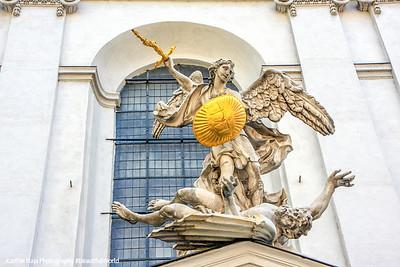Archangel Michael, Michaelerkirche, Vienna, Austria