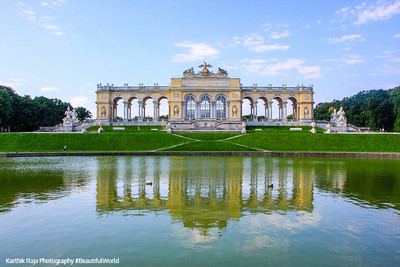 View of the Gloriette, Schönbrunn Palace, Austria