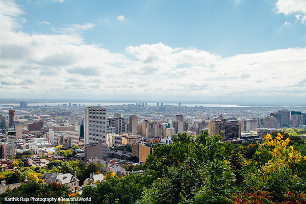 Skyline view, Montreal, Canada