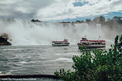 American and Bridal Veil, Niagara Falls, Canada