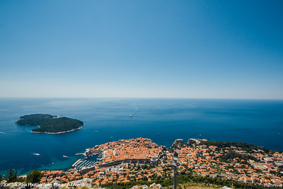 Panorama, Lokrum and Dubrovnik, Croatia