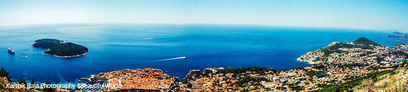 Panorama, Mount Srd view, Dubrovnik, Croatia