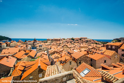 View of Dubrovnik from Minceta Tower, Croatia