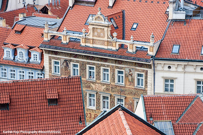 Prague rooftops and facades, Prague, Czech Republic