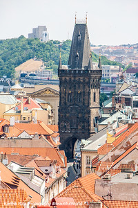 Powder Tower in Old Town, Prague, Czech Republic
