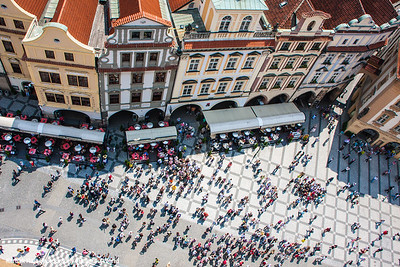 View of the Stare Mesto from the Astronomical Clock Tower, Prague, Czech Republic