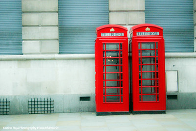 Telephone box, London, England