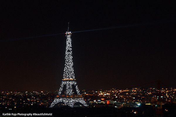 Eiffel Tower in Sparkles, Paris, France
