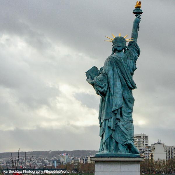 Statue of Liberty, Isle de Grenelle, Paris, France