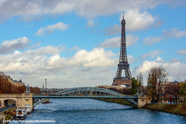 Seine and the Eiffel, Paris, France