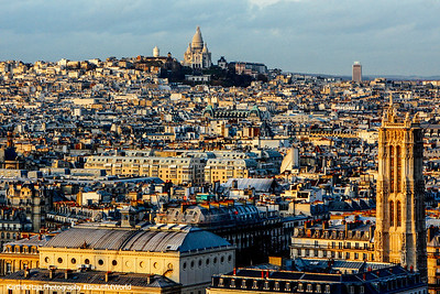 View of the Sacred Heart from Notre Dame, Paris, France