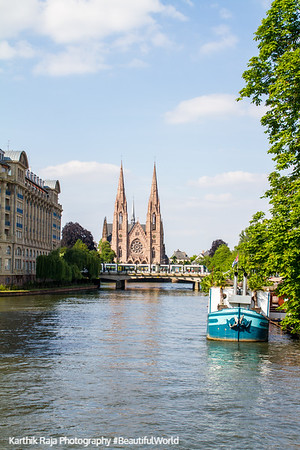 Eglise Saint Paul, Ill River, Strasbourg, France