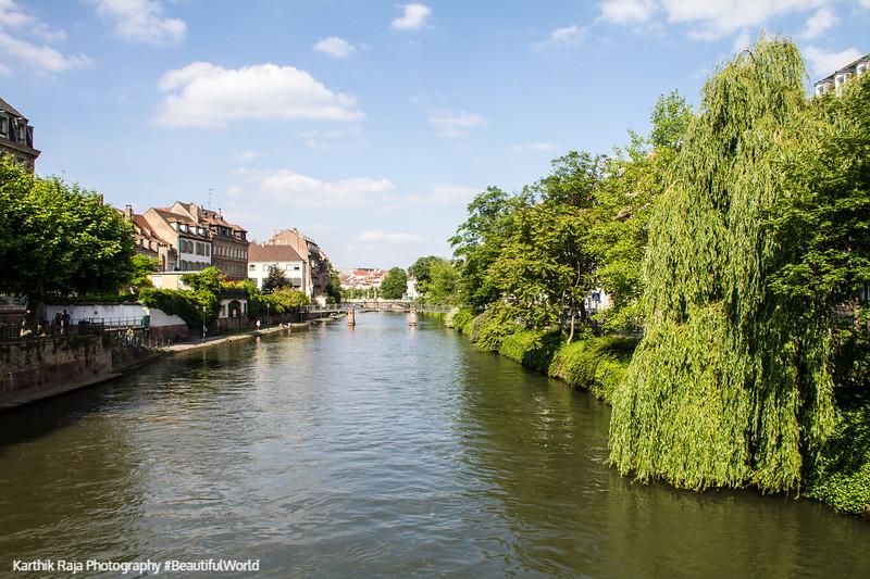 L'lll river, Strasbourg, France