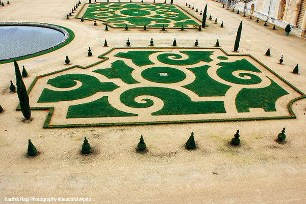 Manicured lawns - Palace of Versailles, Versailles, France