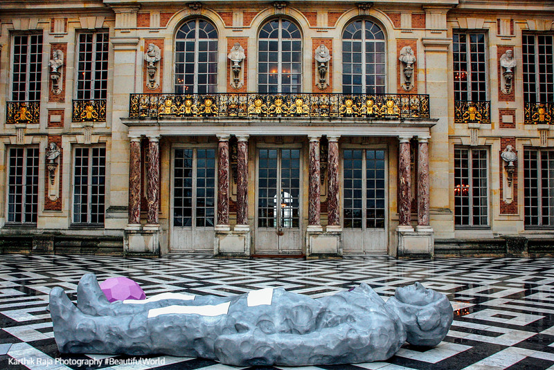 Main courtyard, Palace of Versailles, France