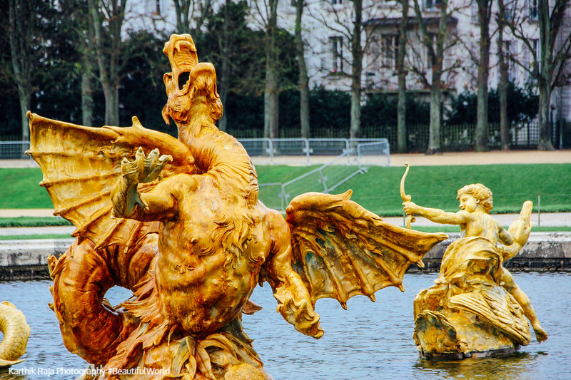 The Dragon Fountain, Palace of Versailles, Versailles, France