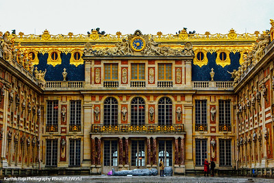 Main courtyard, Palace of Versailles, France