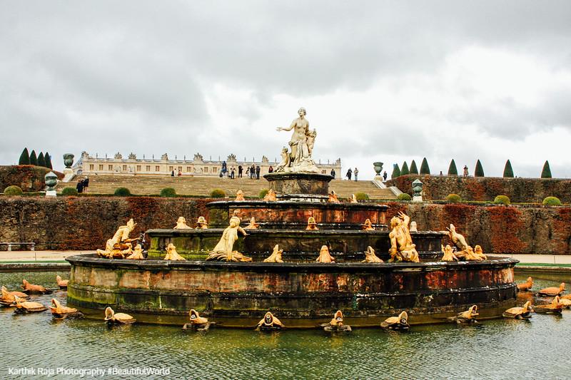 Bassin de Latone – Latona Fountain with the tapis vert, Versailles, France