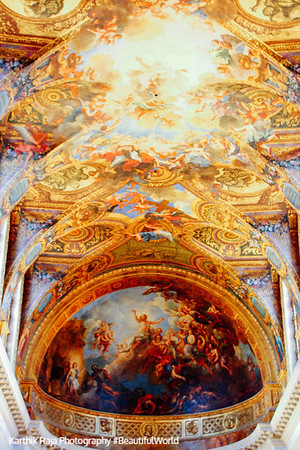A ceiling, Palace of Versailles, Versailles, France