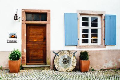 Door, Stadtkirche Sankt Marien, Gengenbach, Black Forest, Germany