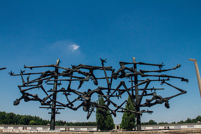 Memorial erected in 1968, Camp, Dachau, Germany