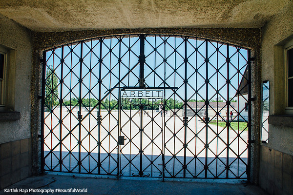 Gate, Concetration Camp, Dachau, Germany