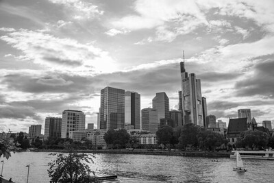 Skyline, Main River, Frankfurt, Germany