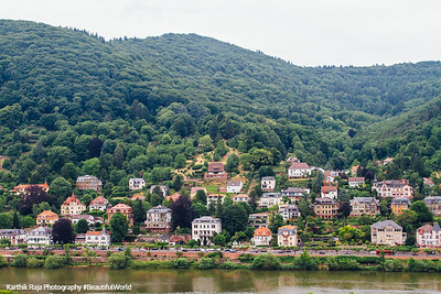 Heidelberg across Neckar, Germany