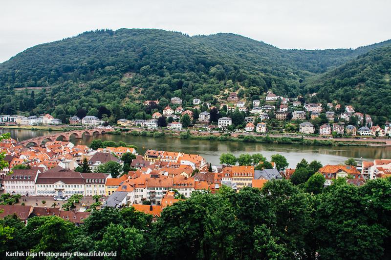 Neckar river, Heidelberg, Germany