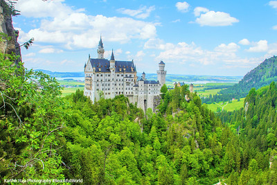 Neuschwanstein Castle, view from Marienbrucke,  Bavaria, Germany