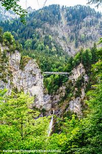 Marienbrucke, Pollat River Waterfalls, Hohenschwangau, Bavaria, Germany