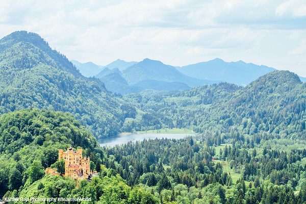 Hohenschwangau Castle and Schwansee, Bavaria, Germany