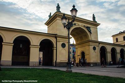 Entrance to Hofgarten, Munich, Bavaria, Germany