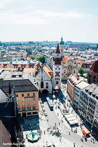 Old Town Hall, Marienplatz, View of Munich, Bavaria, Germany