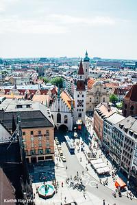 Old Town Hall, Marienplatz, View of Munich, Bavaria, Germany