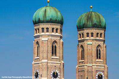 Frauenkirche towers, Munich, Bavaria, Germany