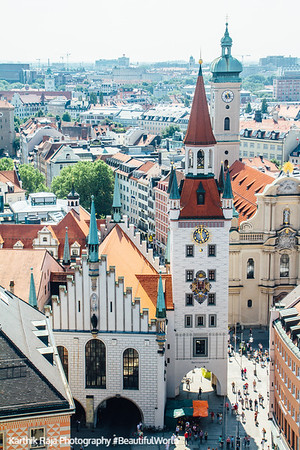 Old town hall, View of Munich, Bavaria, Germany