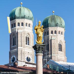 Frauenkirche towers, Queen of Heaven, Munich, Bavaria, Germany