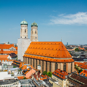 "Frauenkirche, Dom zu Unserer Lieben Frau, ""Cathedral of Our Dear Lady"", Munich, Bavaria, Germany"