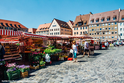 Hauptmarkt, Nuremberg, Bavaria, Germany